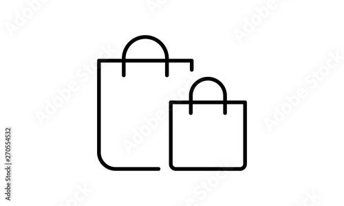 Shopping bag icon ,retail vector - Vector Fototapet
