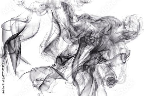 Foto auf AluDibond Rauch Black smoke on white background