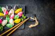 Leinwanddruck Bild - Korean  Rice Cakes Songpyeon