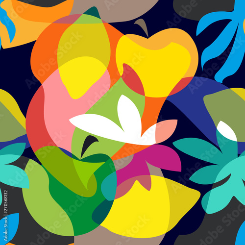 Abstract tropical painting. - 270568132