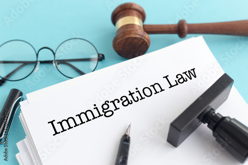 Canvas Prints Textures IMMIGRATION LAW CONCEPT