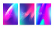 Trendy colorful posters set design, fluid geometric abstract shapes