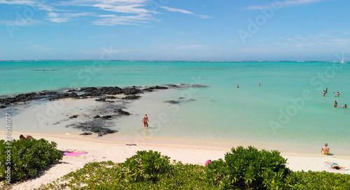 Photo Panoramic aerial view of Ile Aux Cerfs in Mauritius