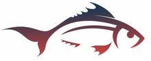 Symbol Of A Stylized Sea Fish.