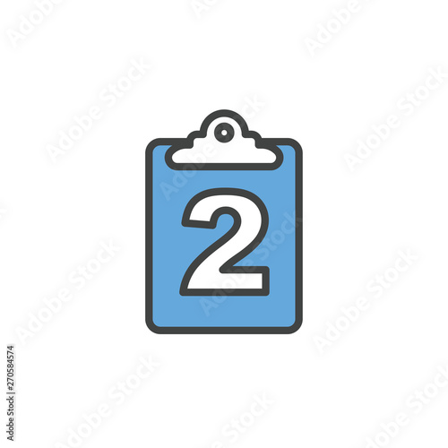 Delivery or Scheduling icon with the number 2 on it - shows 2 times per month Wallpaper Mural