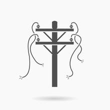 Power Cut Icon Illustration Vector