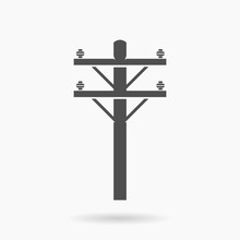 High Voltage Power Line Icon I...