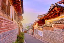 Bukchon Hanok Village In Seoul Korea.