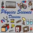 physics science equipment equipment seamless vector
