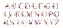 Watercolor Monogram Set