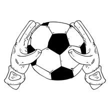 Glove Goalkeeper Icon. Vector ...