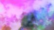 Leinwandbild Motiv Fly through in the gas cloud nebula and stars 3d animation