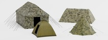 Realistic 3d Render Of Tents