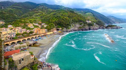 Photographie  Monterosso al Mare, a village in the Cinque Terre, italy
