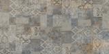 tło kamiennego muru, vintage mozaiki - 270604579