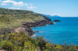 Spectacular landscapes, awe-inspiring cliffs, charming villages and historical landmarks along the coastal road between Alghero and Bossa (SP 105), Sardinia, Italy