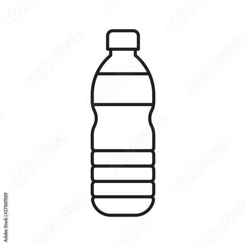Fotografia, Obraz Plastic bottle vector illustration, line style icon