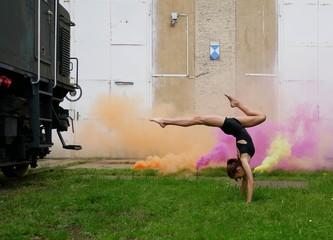 Obraz na płótnie Canvas Fitness und Bewegung