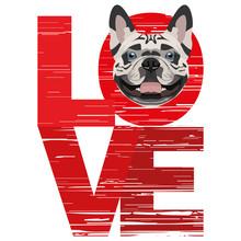 Love Französische Bulldogge