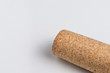 Wine cork isolated on the white.