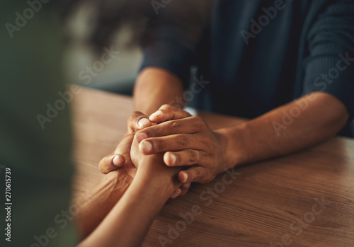 Man holding his girlfriend's hand Canvas Print