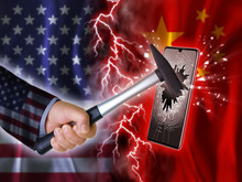 Usa China Flagge Handy