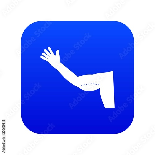 Obraz na plátne  Flabby arm cosmetic correction icon digital blue for any design isolated on whit