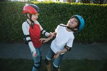 Biking Friends Outside Together