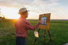 Plein Air Painter With Cool Hat