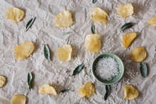 Flat Lay Of Salt Bush Flavoured Potato Crisps