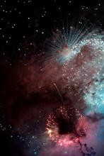 Abstract Fireworks On The Sky