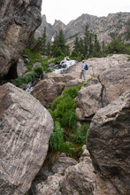 Stream And Rocky Outcropping In Rocky Mountain National Park