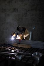 Welder At Work In His Workshop