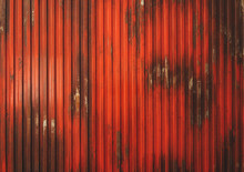 Red Metallic Stripped Background