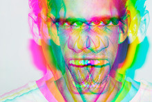 Pop Art,colorful,multiple Exposure,cream,deconstruction,music,hallucination, Illusion,mental,mind,portrait,