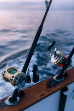 Fishing Rods On A Fishing Boat