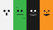 Halloween Monsters Face Vector Illustration
