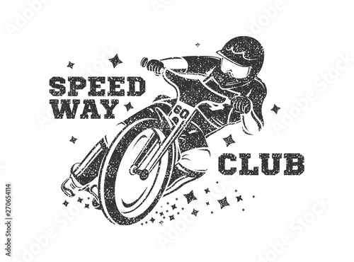 Motocross Vector Illustration. Speedway club logo Canvas-taulu