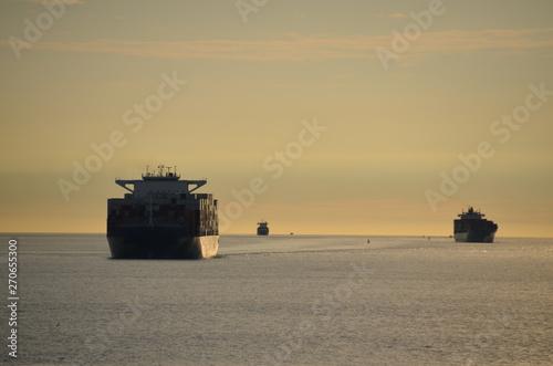 Containerschiff Billede på lærred