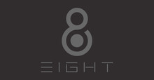 Number 8 Logo. Vector Logotype Design.