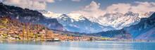 Brienz Town On Lake Brienz By ...