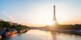 Fototapeta Fototapety z wieżą Eiffla - scenic view of the Eiffel Tower during sunrise