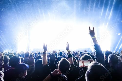 cheering crowd at rock concert - 270660399