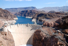 Hoover Dam Seen From The Bypas...