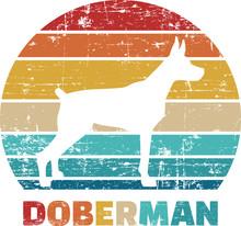 Doberman Vintage Retro