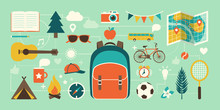 Summer Camp, Vacations And Childhood Icons