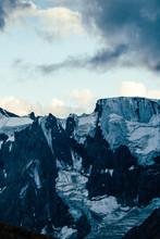 Caucasus Mountains On Sunrise