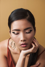 Asian Woman With Graphic Eye Make Up Look