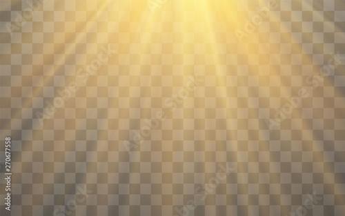 Photo Sunlight special lens flash light effect on transparent background