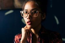Close Up Portrait Of Asian Wom...